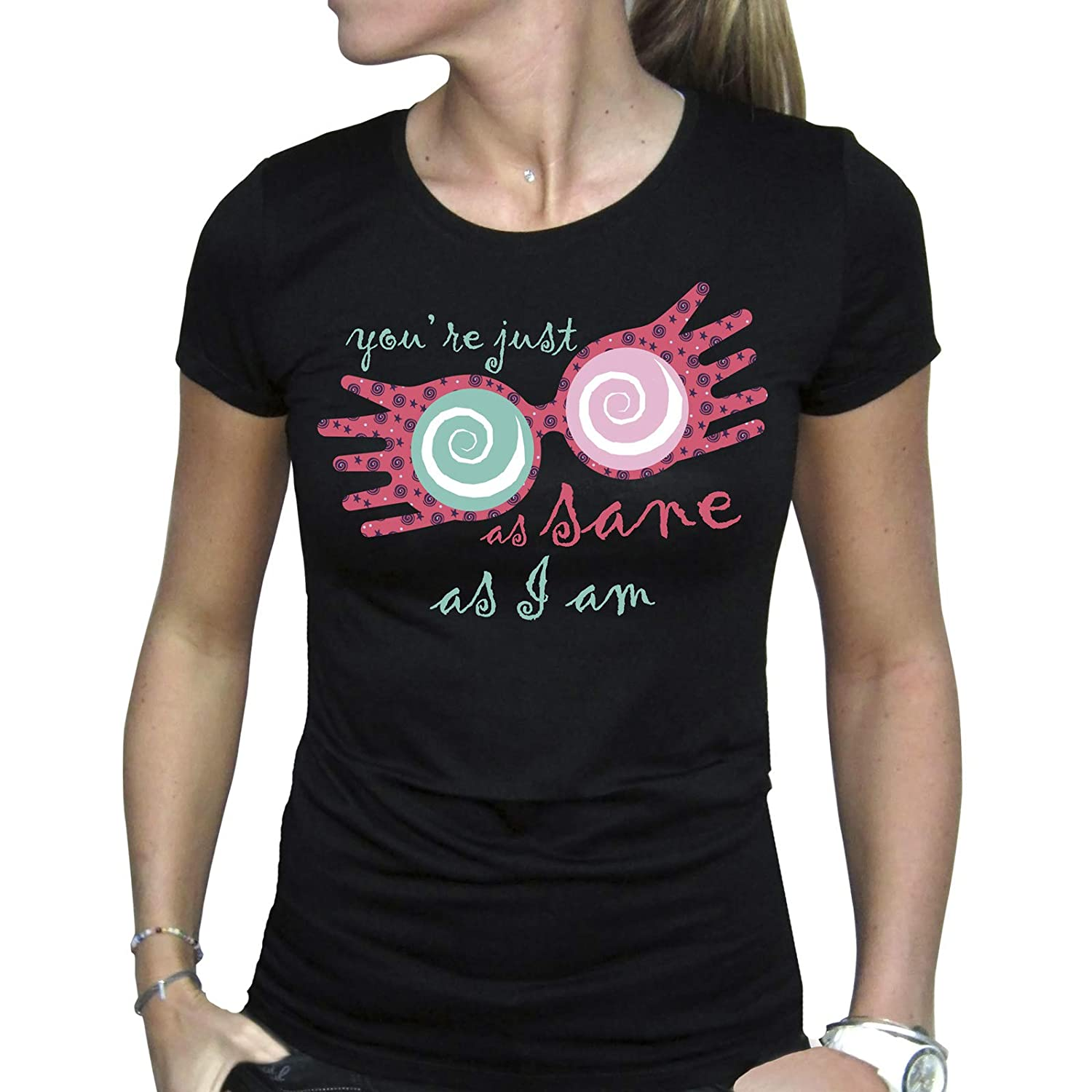 T-Shirt Donna ABYstyle Harry Potter Nero Luna Lovegood
