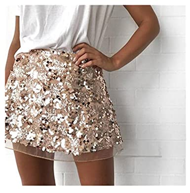 39e96c1e04f New Arrival Short Women Skirt Cute Plus Size Rose Gold Bright Sexy Female A  Line Tutu