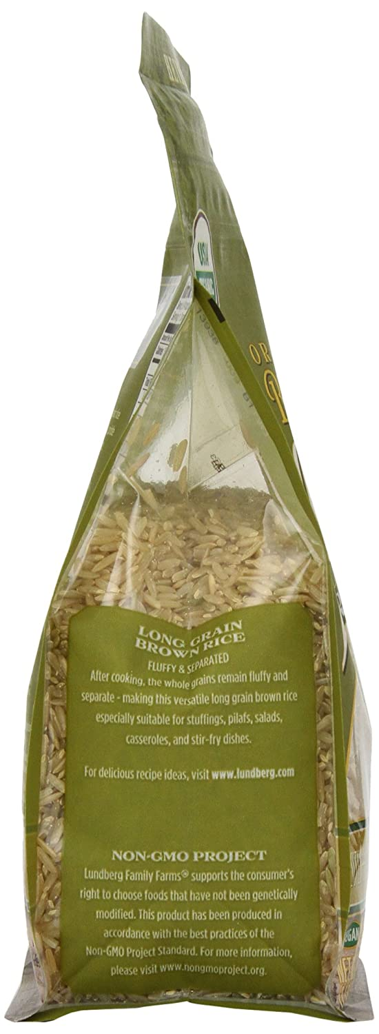 Amazon : Lundberganic Long Grain Rice, Brown, 32 Ounce (pack Of 6)  : Dried Brown Rice : Grocery & Gourmet Food