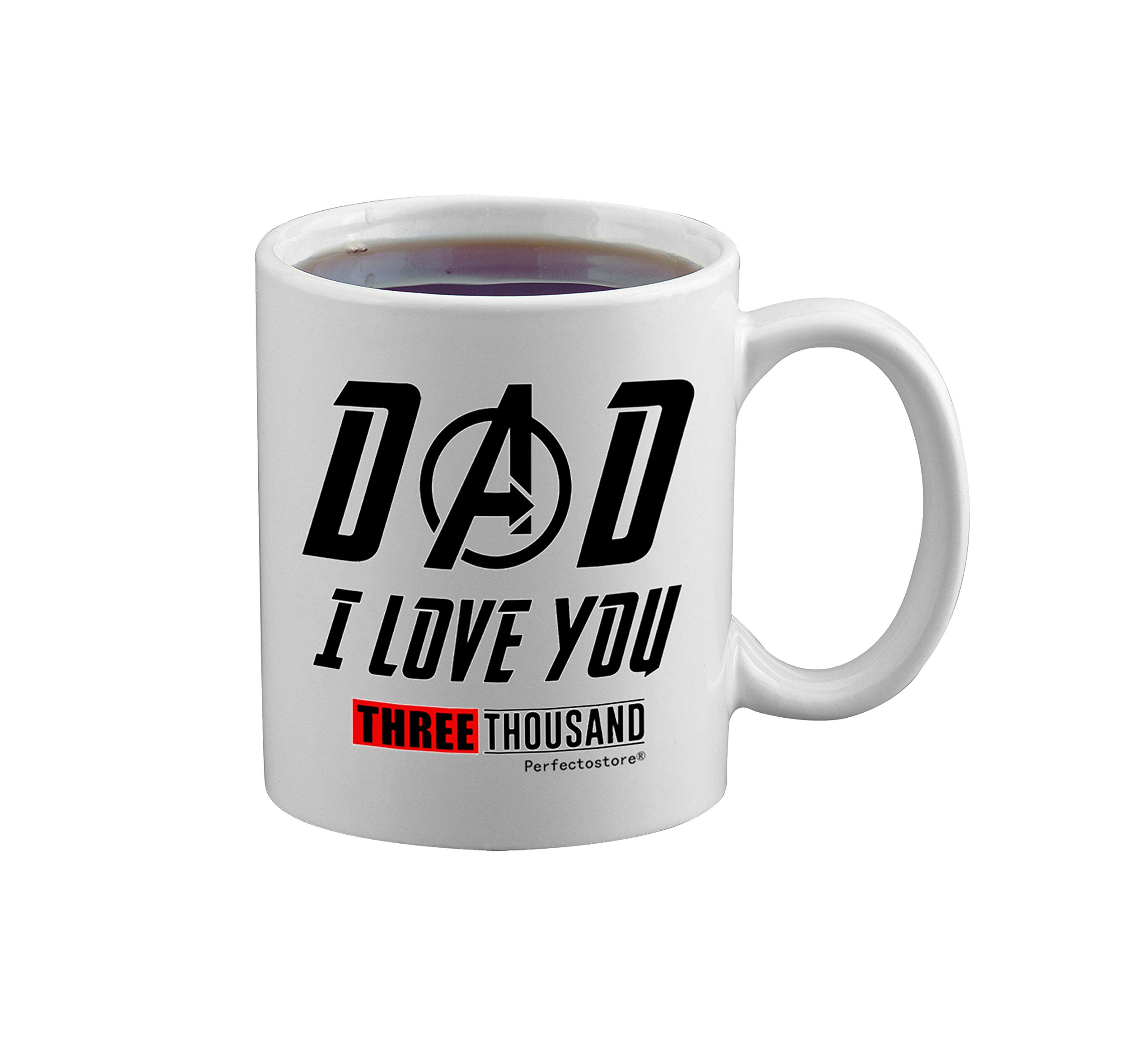 PerfectoStore I Love You 3000 Dad Gifts from Daughter If Had Differen't Dad I'd Kick Him in Face Dad Gifts from Son Funny Dad Gift Coffee Mug Tea Cup White by PerfectoStore (Image #5)