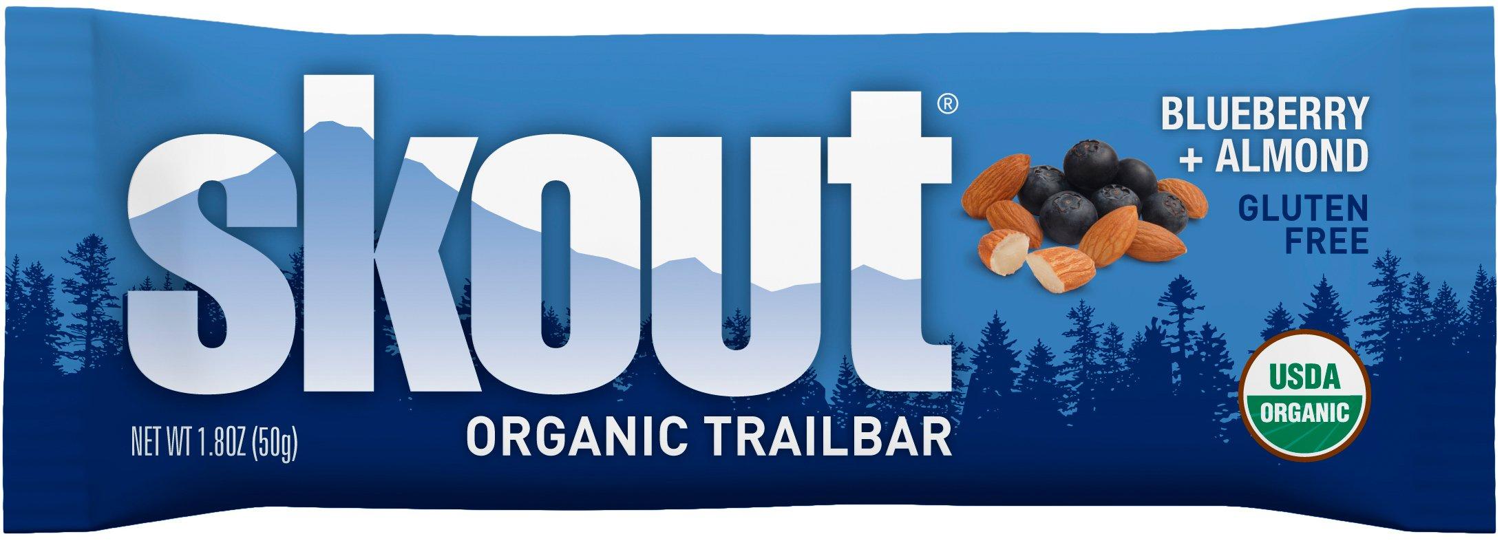 Skout Organic Blueberry Almond Trailbar (12x1.8oZ) by Skout (Image #1)