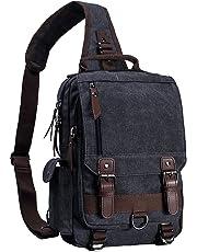 Mygreen 13 Inch Laptop Sling Backpack Fashion Vintage Crossbody Chest Bag Shoulder Bags