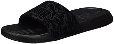 0e86fe7ad3e3 PUMA Popcat Women VR Sandals Slippers 363847 01 Black Black