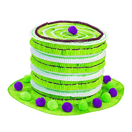 448252ddeeef5 Amazon.com: Colorations Kids Decorate Your Own Paper Top Hat Costume Craft  Activity and Party Wearable (Item # HATSOFF)