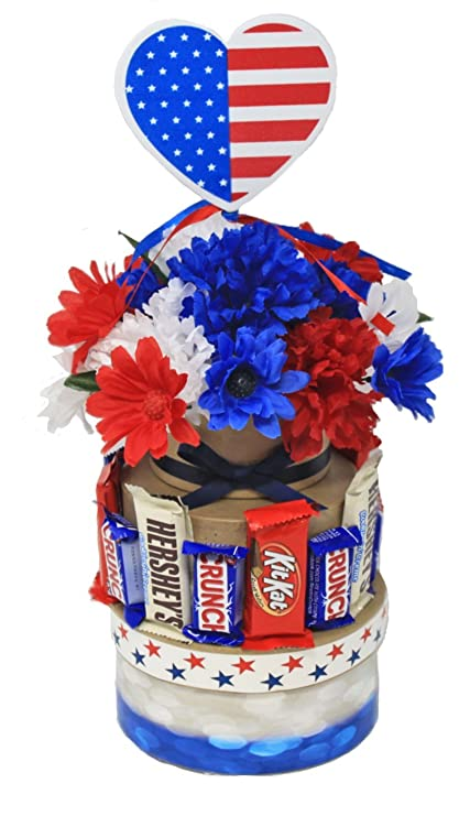 Amazon Com Red White And Blue Centerpiece Solider Welcome Home