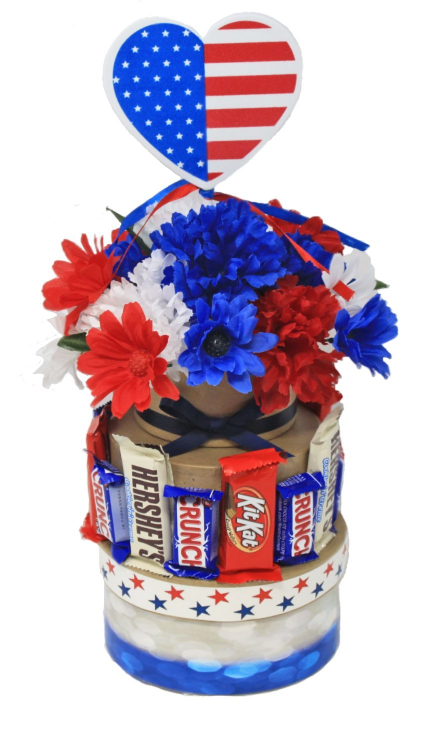 Patriotic Table Center Piece | Solider Welcome Home Decoration | Table Decor | Red White and Blue Theme | Appreciation | Thank You