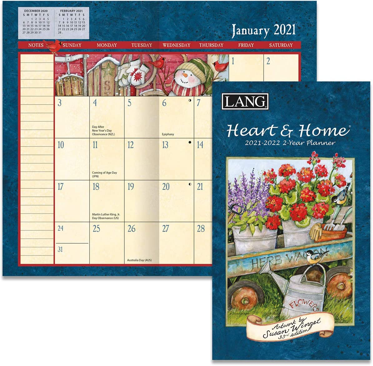LANG Heart & Home 2021 Two Year Planner (21991071072)