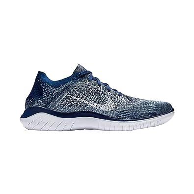 huge selection of 2358f 7932a Nike Men s Free RN Flyknit 2018 Running Shoe (8 D US, Blue Void