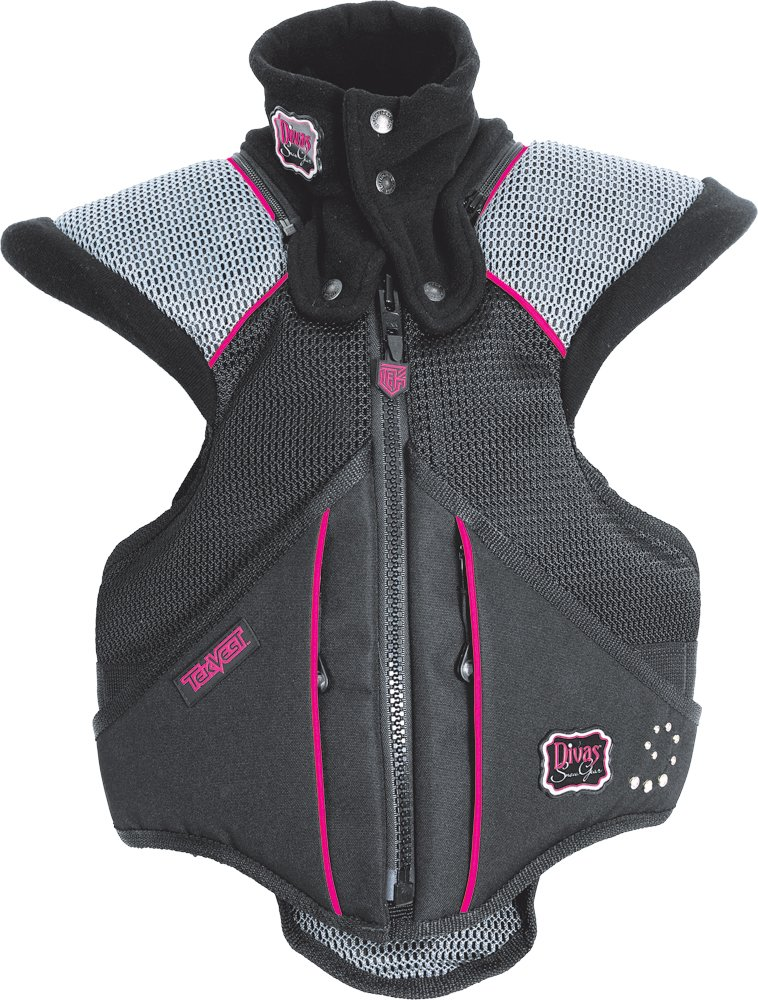 Divas Womens Super Sport Tek-Vest Protection Vest Black Pink XXS/XX-Small