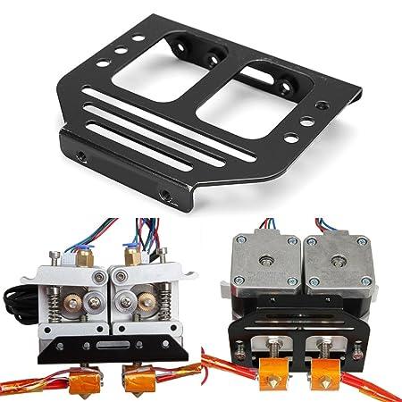 Metal MK8 extruder holder chassis for dual extruder MK8 Prusa I3