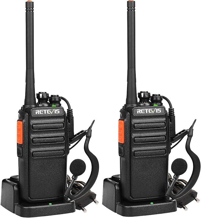 Retevis RT24 Walkie Talkie Recargable, Walkies Profesionales, PMR446 sin Licencia 16 Canales CTCSS/DCS VOX, Walkie Talkie con Auriculares y Cargador ...