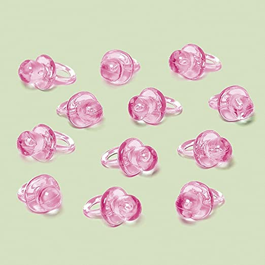 Amazon.com: Mini chupete favorece Pink Paquete De 24: Toys ...