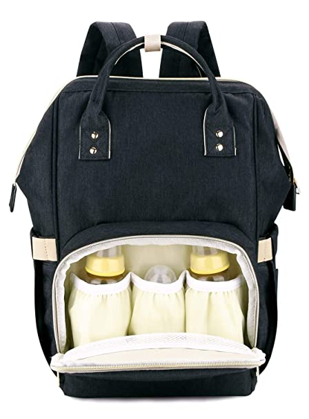 c55d5a1602 Buy House of Quirk Waterproof Baby Diaper Bag Black Maternity Backpack ( DIAPER BAG_BLA) Online at Low Prices in India - Amazon.in