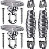 SELEWARE Set of 2 Permanent Antirust 304 Stainless Steel Swing Hangers and Porch Swing Springs Hanging Kit for Hammock Chair,