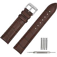 20mm Bracelet Montre Cuir Noir Bande de Bracelet Montre Cuir Remplacement Boucle pour Montre Homme Femme 18mm 19mm 20mm 21mm 22mm