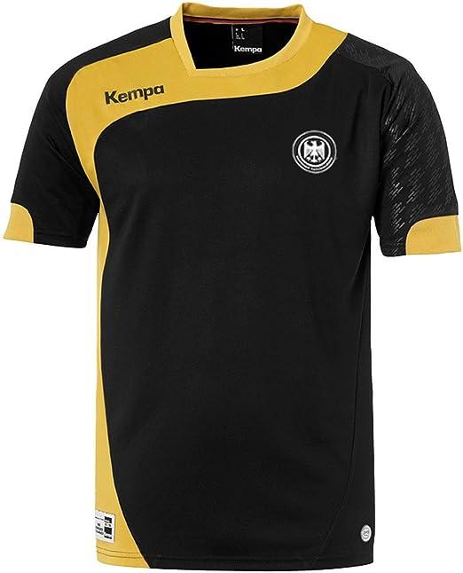 Kempa balonmano DHB Elite Camiseta de Negro/Oro con DHB Logo, negro: Amazon.es: Deportes y aire libre