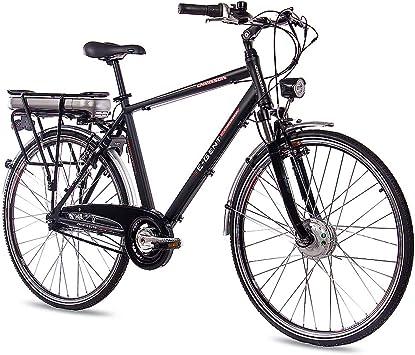 CHRISSON - Bicicleta eléctrica de trekking y ciudad para hombre ...