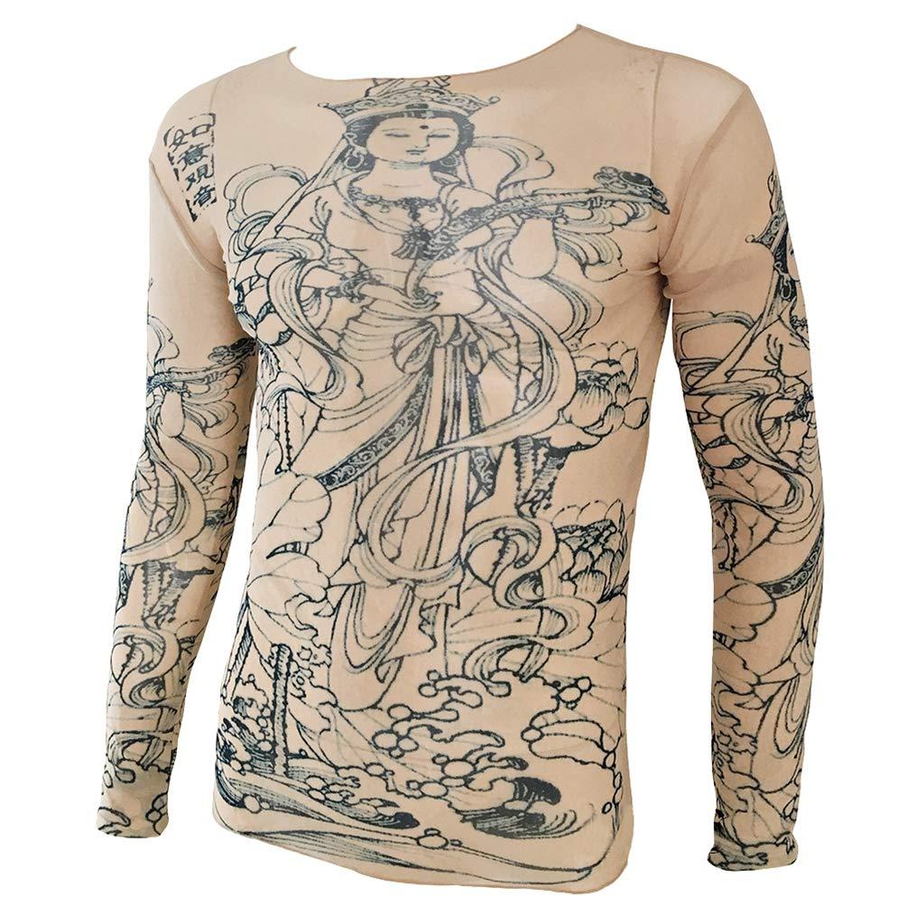 WanYangg Camiseta De Tatuaje para Hombre Camiseta Transpirable Manga Larga  Camisas con Tatuajes Ropa Tattoo Camisetas f6f1ea16dec7e