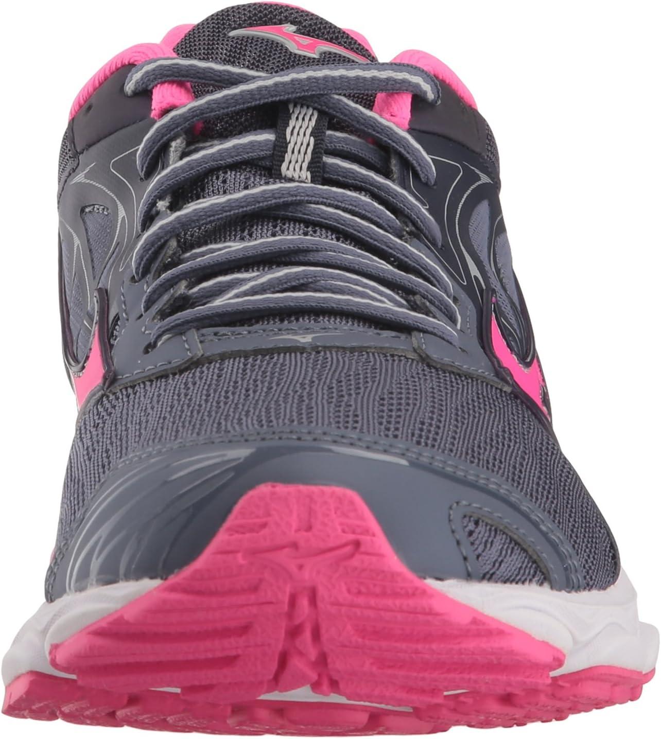 Mizuno Women's Wave Inspire 14 Running Folkstone Gray/Pink Glo