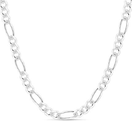 925 Sterling Silver Plated 10PCS 16-30inch 2MM Chain Fashion Men Figaro Necklace