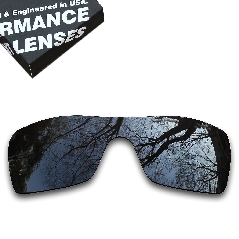 Amazon.com: Replacement Black Polarized Lenses for Oakley Batwolf ...