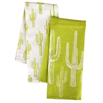 Karma Gifts Tea Towels (Set Of 2), Cactus