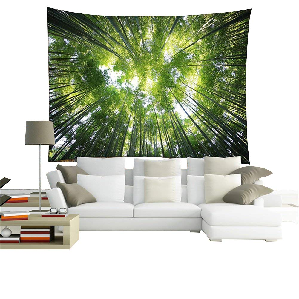 QEES Forest Tapestry Wall Hanging Art Decoration Wall Throw Blanket 59 * 51 Inch GT07 ZhuoLang