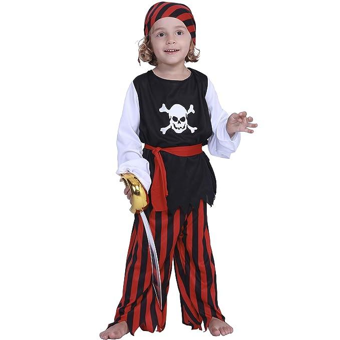 EraSpooky Pirata Niño Disfraz Traje Halloween