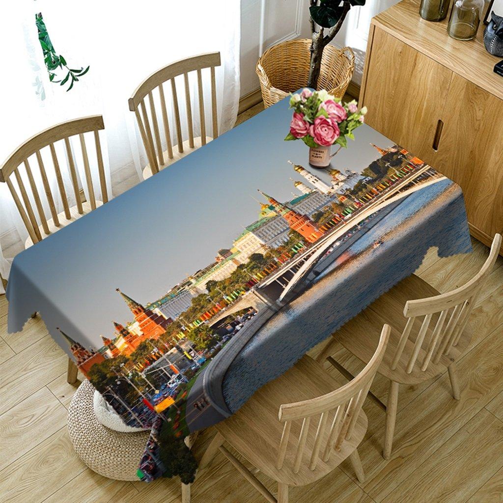 Reducción de precio Qiao jin Manteles Manteles rectangulares - 3D Landscape Series Tablecloth MT8 - Respetuoso con el Medio Ambiente y sin Sabor - Impreso digitalmente a Prueba de Agua (Tamaño : Square -228cmx228cm)