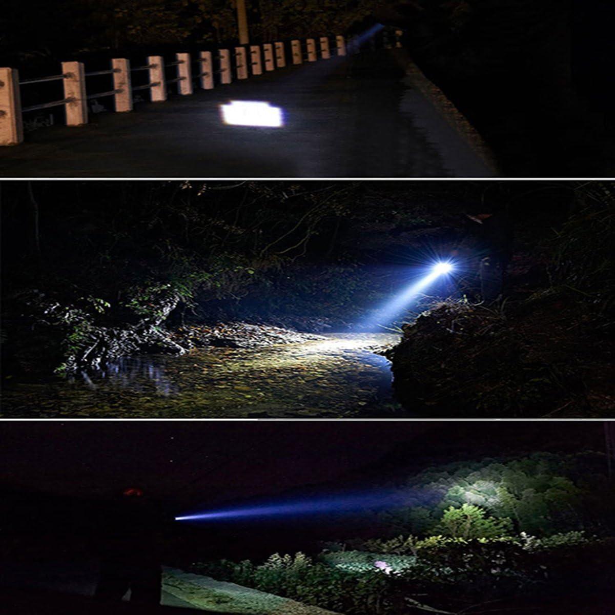 Wei Xi Small LED CREE Flashlight Pack of 2 Microlight Pocket-Sized LED Pen Light XPE-R3 Black Bright Waterproof Pen Light AAA Battery Tactical Flashlight