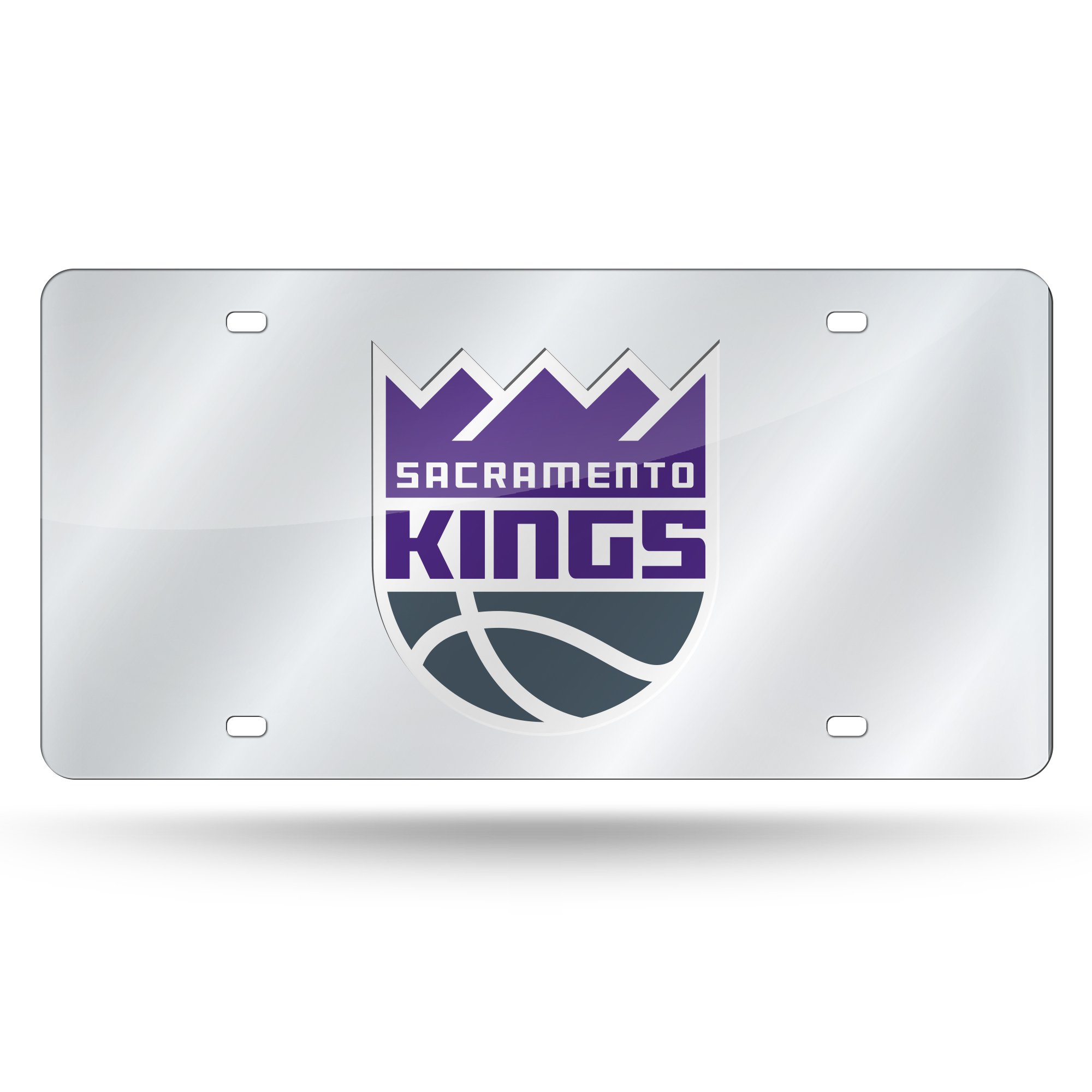 Rico Industries NBA Sacramento Kings Laser Inlaid Metal License Plate Tag