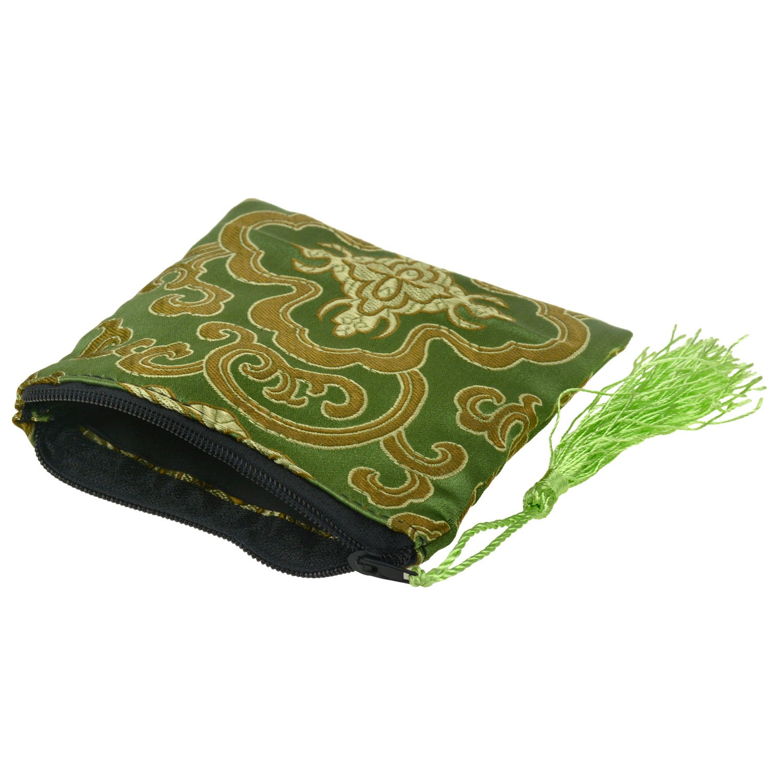 Rantanto Silk Brocade Coin Cash Purse Wallet Jewelry Pouch Bag With Tassel KimLee BGS0001