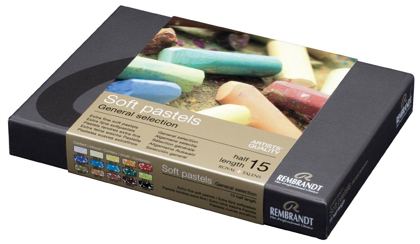 Talens Royal Rembrandt Soft Pastels Landscape Set, 15 Half Pastels