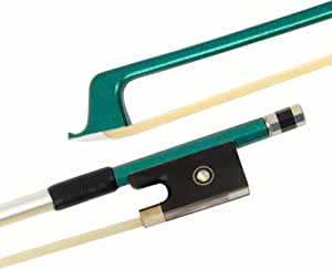 Kmise Carbon Fiber Violin Bow Stunning Bow for Violin Parts Black 1 Pcs (3/4, Green)