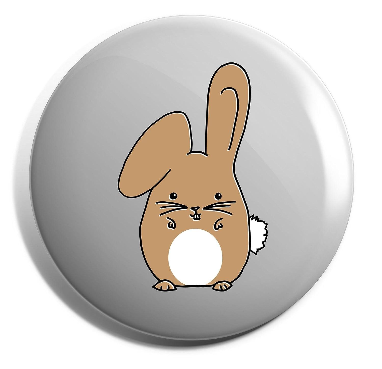 Hippowarehouse Beige Bunny rabbit Badge Pin