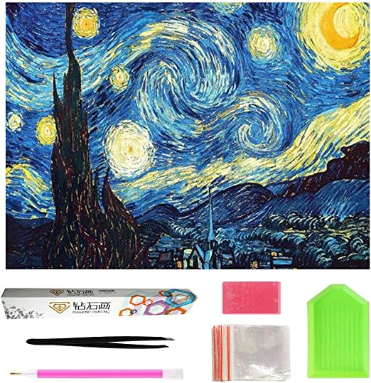 5D Diamond Painting Kits Full Drill DIY Embroidery Painting Wall Sticker for Wall Decor Happy Cats 12x16inch