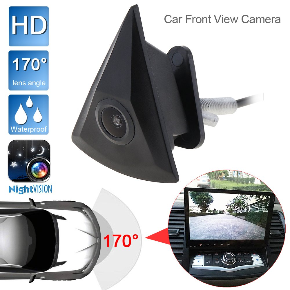 Cá mara de visió n delantera para coche, visió n nocturna, 170 grados anchos, 420 TVL HD visión nocturna EPATH DIRECT