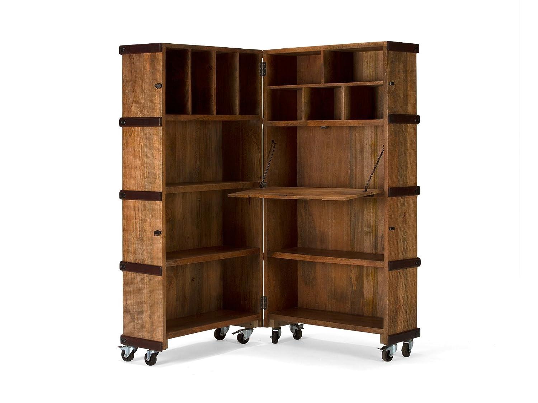 Massivum 10021130 Regalschrank Yunan Holz, braun, 64 x 85 x 170 cm