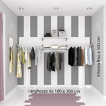ALUCABINA Begehbarer Kleiderschrank, Kleiderschrank Wand ...