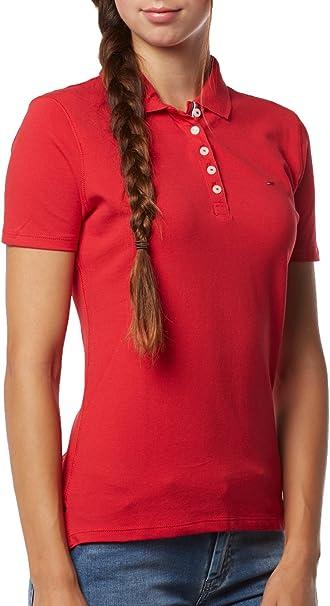 Tommy Jeans - Polo - para Mujer Rojo XL: Amazon.es: Ropa y ...