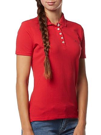 Tommy Jeans - Polo - para Mujer Rojo XL: Amazon.es: Ropa y accesorios