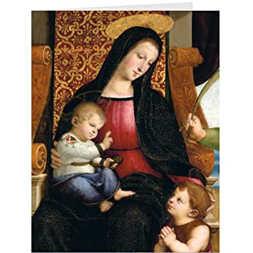 christmas cards holiday cards religious christmas cards christian greeting cards madonna boxed 20
