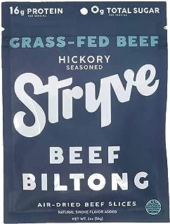 product image for Stryve Beef Biltong, Grass-fed Biltong Jerky, 16g Protein, 0g Sugar, 1g Carb, Gluten Free, No Hormones, No Antibiotics, No Preservatives, No Nitrates - Smoked, 2oz