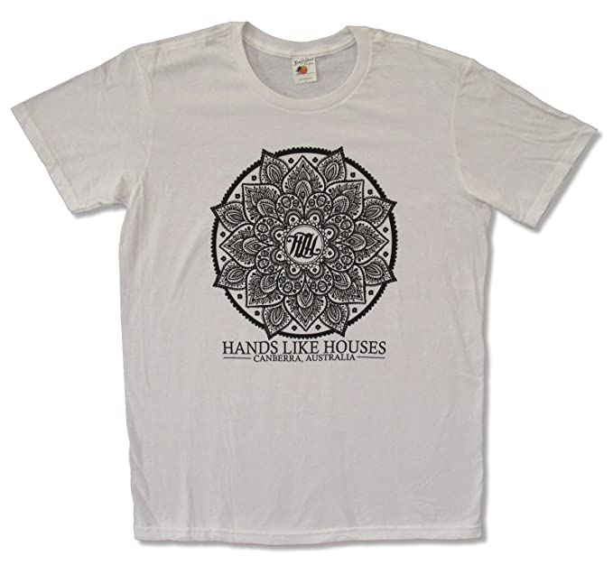 4714b866 Bay Island Sportswear Adult Hands Like Houses Flower White Tee Shirt (Small)