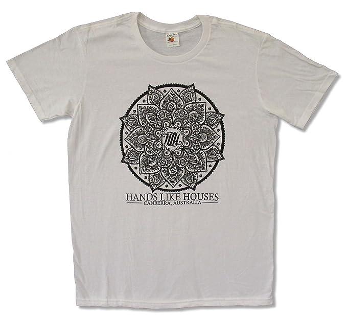e9b20ddd Bay Island Sportswear Adult Hands Like Houses Flower White Tee Shirt (Small)
