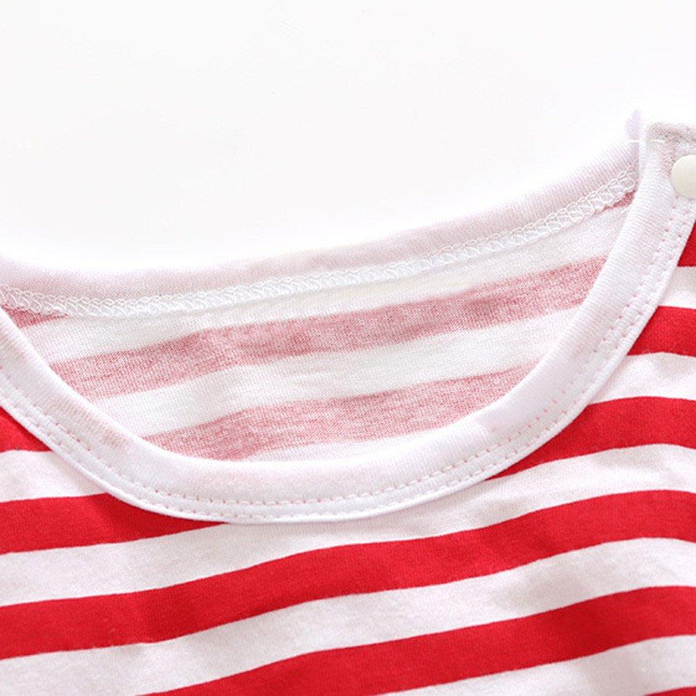 Memela Fall//Winter Warm Baby Organic Snap Front Footie Bodysuit Stripe Letter Romper With Hat 0-24 Months