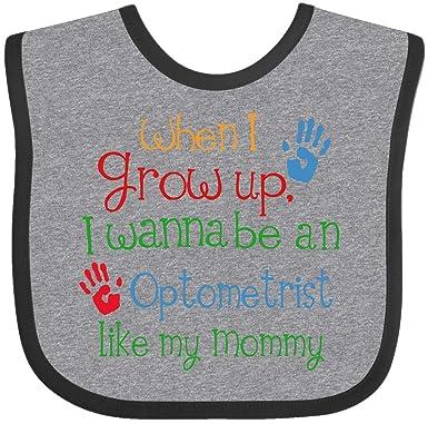76fccbff0d4 Amazon.com  Inktastic - Optometrist like Mommy Baby Bib Heather and ...