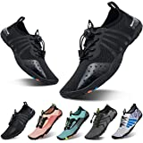 YALOX Water Shoes Men's Women's Swim Shoes Outdoor Beach Barefoot Quick-Dry Aqua Pool Socks Swimming Yoga Surfing Exercise