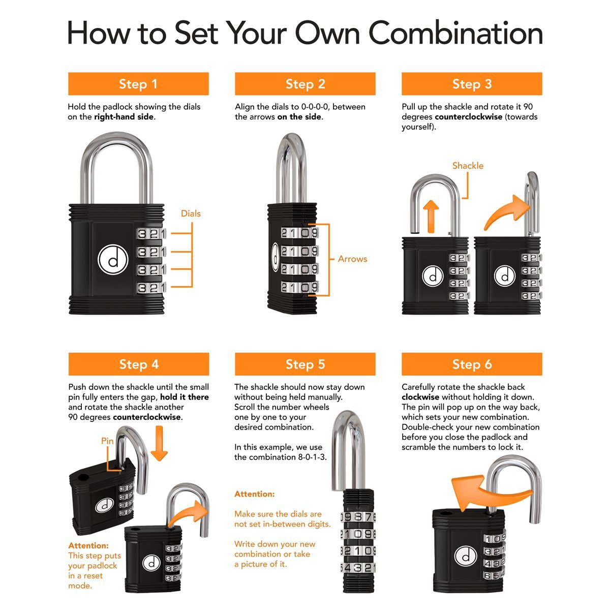 Padlock - 4 Digit Combination Lock for Gym, Sports, School & Employee Locker, Outdoor, Fence, Hasp and Storage - All Weather Metal & Steel - Easy to Set Your Own Keyless Resettable Combo - Green by desired tools (Image #5)