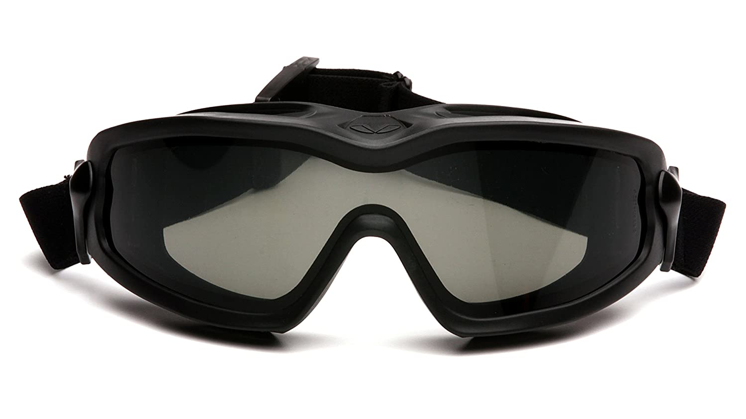 Pyramex V2G PLUS Safety Goggles with Adjustable Strap Gray Anti-Fog Dual Lens with Black Strap Green Supply GB6420SDT